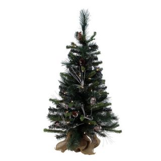 Green Mixed Pine Artificial Christmas Tree with 50 Clear Lights