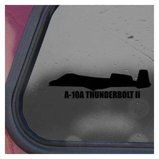 A 10A THUNDERBOLT II Black Sticker Decal Military Soldier Black Sticker Decal   Decorative Wall Appliques