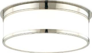 Hudson Valley Lighting 709 PN Geneva 1 Light Flush Mount Ceiling Fixture, Polished Nickel   Flush Mount Ceiling Light Fixtures