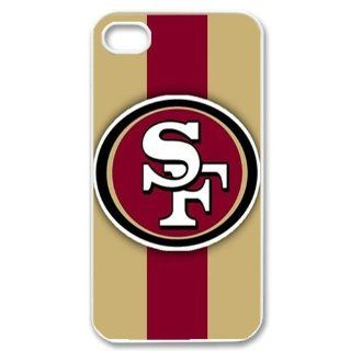 WY Supplier San Francisco 49ers Retro Logo Case Cover for Apple Iphone 4 4S White Color WY Supplier 145804 Cell Phones & Accessories