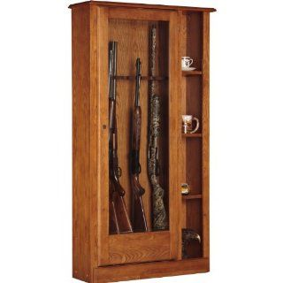 American Furniture Classics 725 10 Gun/Curio Cabinet Combination