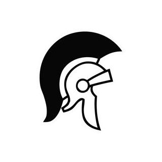 Trojan Helmet   Tribal Decal Vinyl Car Wall Laptop Cellphone Sticker   Childrens Room D Cor