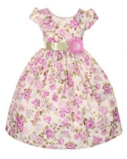 Girls Cinderella Couture Lavender Flower Bouquet Jacquard Dress Clothing