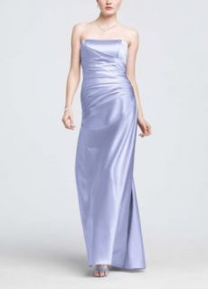 Strapless Satin Ball Gown with Ruching