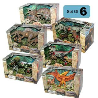 Lontic Extinct World Articulated Dinosaur Toy Action Figures Play Sets   COMPLETE 6 Box Bundle Toys & Games