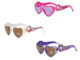 Hello Kitty Hearts   Die cut Sunglasses for Kids (Random Color) Toys & Games