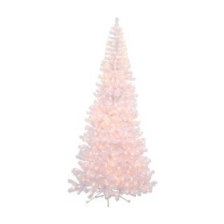 7.5 ft. White Corner Pre Lit Christmas Tree
