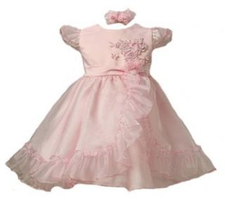 KID Collection Baby Girls Gorgeous Ruffled Organza Party Dress & Headband Clothing