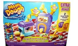 Moon Dough   Mega Food Club Pack   Extra Includes 2 Dough Refills   Magical Molding Dough Toys & Games