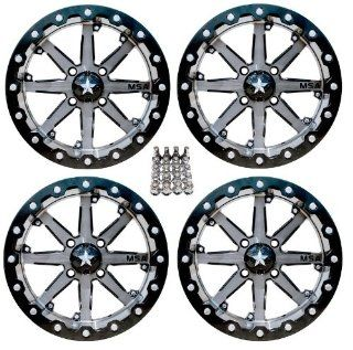 "MSA M21 Lok ATV Wheels/Rims Gunmetal 15"" Polaris Sportsman RZR Ranger (4) Automotive"