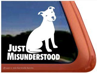 Just Misunderstood   American Pit Bull Terrier Dog Vinyl Window Decal Sticker Automotive
