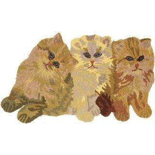 Jellybean Tres Amigos Cats Indoor Outdoor Rug  Area Rugs  Patio, Lawn & Garden