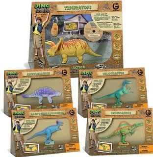 Dino Dan LARGE Articulated Dinosaur Toy Action Figures   BUNDLE 2 Toys & Games