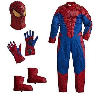 Disney Deluxe Amazing Spiderman Spider Man Costume for Boys Toddlers Avengers Marvel (Xxs 2 3 Extra Extra Small) Childrens Costumes Toys & Games