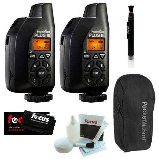 2 Pocket Wizard Plus III Transceiver   801 130 + $10 Focus Camera Gift Card + Accessory Kit Computers & Accessories