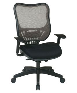 Office Star Latte AirGrid Back and Mesh Seat Executive Chair   Desk Chairs