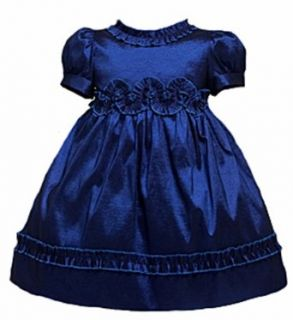 KID Collection Baby Girls Shimmering Dress 6M Sm Blue (Kid J803) Infant And Toddler Special Occasion Dresses Clothing
