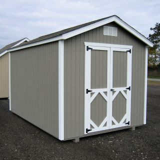 Little Cottage 8 x 10 ft. Classic Wood Gable Panelized Storage Shed   Storage Sheds