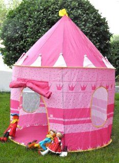 New Kid Girl Pink Color Pop Up PLAY TENT Princess Castle Toys & Games