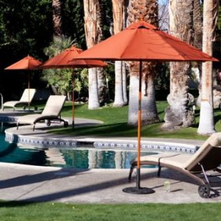 Coral Coast 7.5 ft. Commercial Wood Sunbrella Patio Umbrella   Commercial Patio Furniture