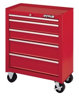 Waterloo Shop Series 26 in. Red 5 Drawer Cabinet   14D in.   Tool Chests & Cabinets