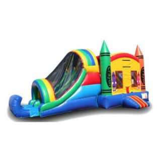 EZ Inflatables Crayon Combo Bounce House   Commercial Inflatables