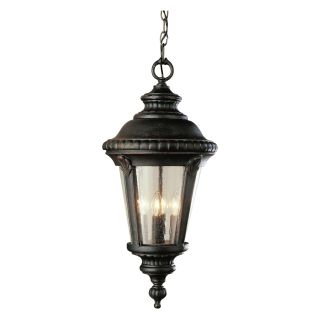 Trans Globe 50491 BC Hanging Lantern   Black Copper   10.5W in.   Outdoor Hanging Lights