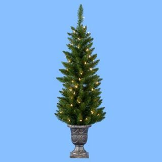 48 in. Potted Point Pine Pre Lit Christmas Tree   Christmas Trees