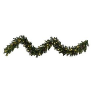 Vickerman 9 ft. Ashberry Pine Pre Lit LED Garland   Warm White Lights   Christmas Garland