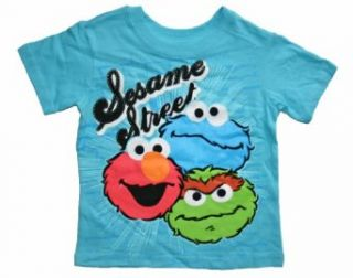 Sesame Street Elmo, Cookie Monster, & Grouch Toddler T Shirt (4T) Clothing