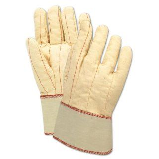 "Magid 794JSC MultiMaster Cotton/Poly Double Palm Canvas Glove with 2 1/2"" Safety Cuff, Work, Men Jumbo, White (Case of 12)"
