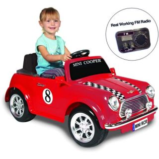 Kid Motorz Mini Cooper with Radio Battery Powered Riding Toy   Red   Battery Powered Riding Toys