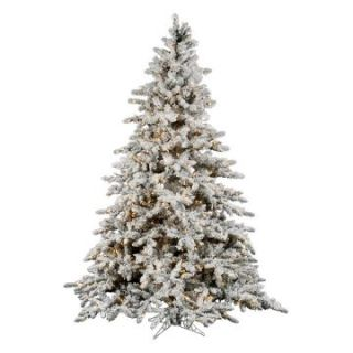 Vickerman 10 ft. Flocked Slim Utica Fir Multi LED Christmas Tree   Christmas Trees