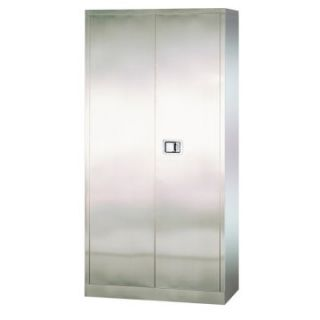 Edsal Stainless Steel Paddle Lock Storage Cabinet   Cabinets