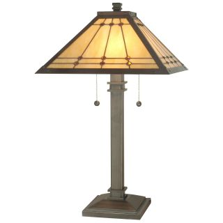 Dale Tiffany Jeweled Mission Lamp   Table Lamps