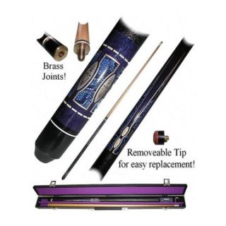 Purple Matrix Billiard Pool Cue Stick with Case   Pool Cues