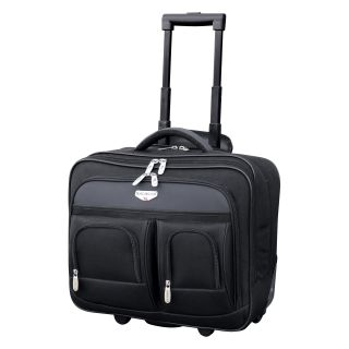Travelers Club Luggage 17 in. Dual Section Rolling Briefcase With Padded Laptop Compartment   Computer Laptop Bags