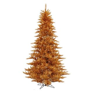 Vickerman Copper Slim Fir Pre lit Christmas Tree   Clear   Christmas Trees