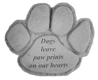 Dogs Leave Paw Prints Pet Memorial Stone   Paw Print   Garden & Memorial Stones