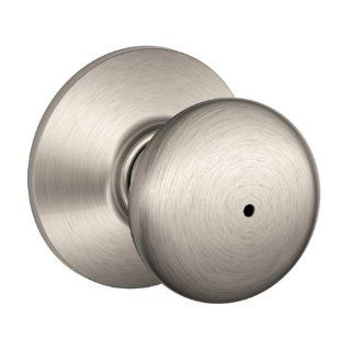 Schlage F40VPLY619 Plymouth Privacy Knob, Satin Nickel   Doorknobs
