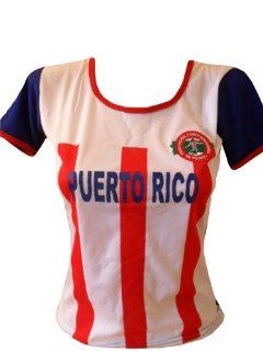 WOMEN PUERTO RICO SOCCER JERSEY FUTBOL .NEW  Sports Fan Jerseys  Sports & Outdoors