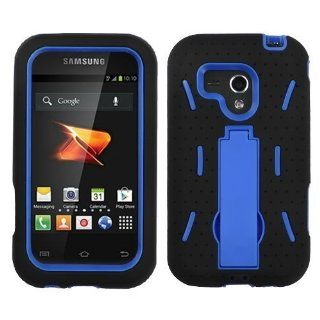 MYBAT ASAMM830HPCSYMS017NP Symbiosis Dual Layer Protective Hybrid Case with Kickstand for Samsung Galaxy Rush M830   1 Pack   Retail Packaging   Dark Blue/Black Cell Phones & Accessories