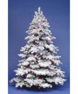 9 ft. Flocked Alaskan Full Pre lit ChristmasTree   Christmas Trees