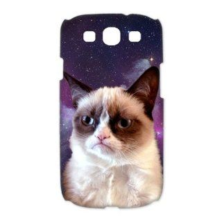 Custom Grumpy Cat 3D Cover Case for Samsung Galaxy S3 III i9300 LSM 831 Cell Phones & Accessories