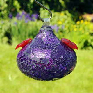Shimmer Glass Hummingbird Feeder   Bird Feeders