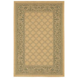 Couristan Recife Garden Lattice Indoor/Outdoor Area Rug   Natural/Green   Area Rugs