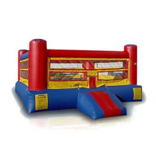 EZ Inflatables Boxing Ring Bounce House   Commercial Inflatables