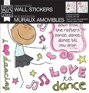 me & my BIG ideas Removable Wall Sticker, Love To Dance   Wall D?cor Stickers