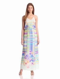 Amanda Uprichard Women's Y Back Maxi Dress, Hawaiian Flower, Medium