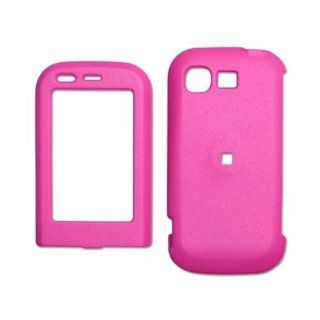 Fashionable Perfect Fit Hard Protector Skin Cover Cell Phone Case for LG Tritan AX 840 / UX 840 Alltel,U.S. Cellular   HOT PINK Cell Phones & Accessories